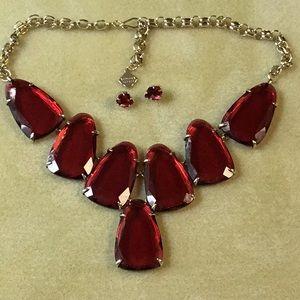 Kendra Scott Harlow statement necklace & earrings